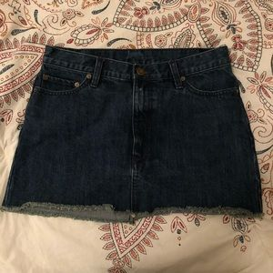 Free people dark denim skirt!